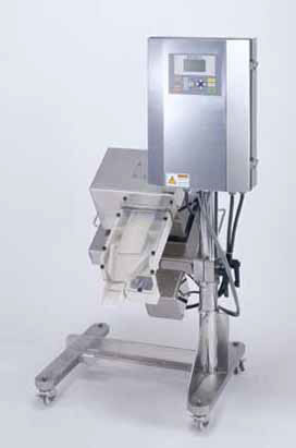 Metal Detecting system for pharmaceutical tablets including rejection system MS-4122 from Nissin Electronics